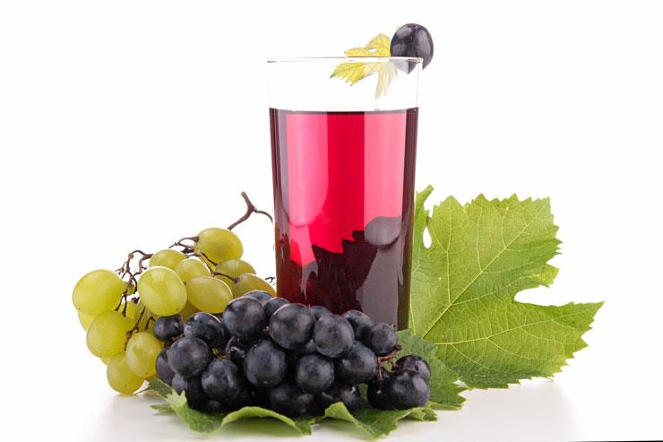 sok z winogron, dieta sokowa
