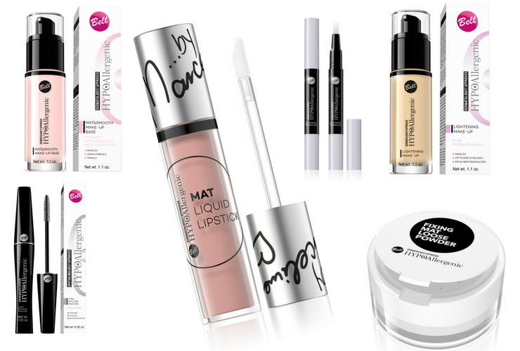 Do romantycznego makijażu możesz użyć serii hipoalergicznych kosmetyków od Bell / fot. materiały prasowe