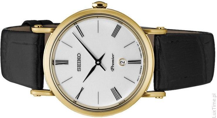 czarny zegarek seiko męski