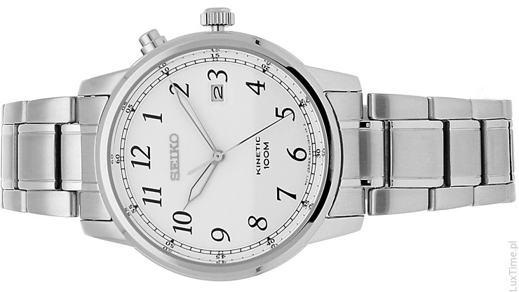 zegarek seiko na srebrnym pasku