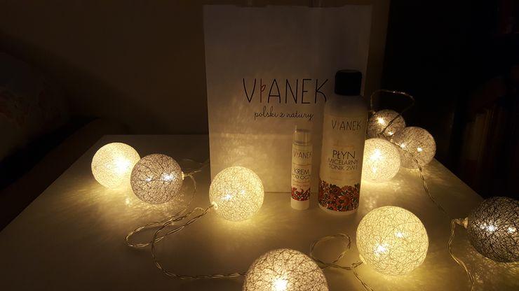 Kosmetyki marki Vianek, płyn micelarny i tonik 2w1 oraz krem pod oczy