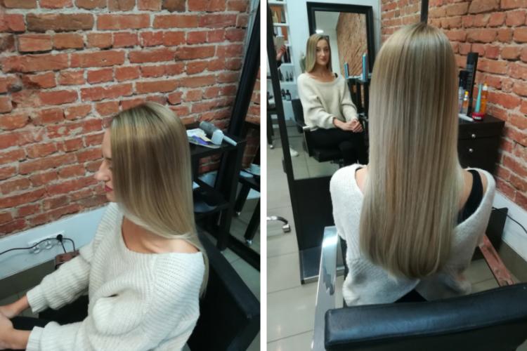 Blond włosy po koloryzacji