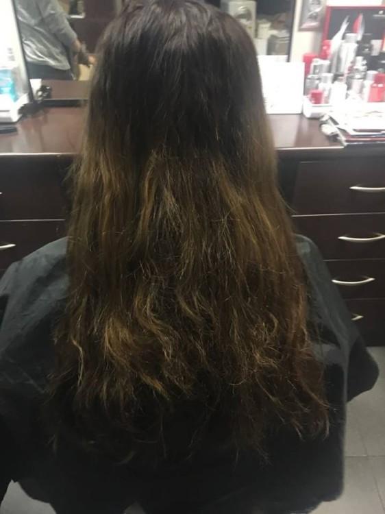 Włosy przed zabiegiem w Studio 9